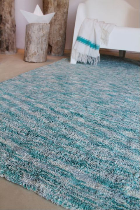Large Rug Mixed Emerald Green