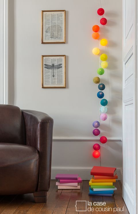 Oscar, battery operated garland lights from La Case de Cousin Paul :: Baby Bottega